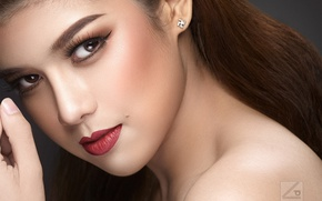Picture eyes, look, girl, style, portrait, retouching, make-up