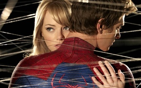 Picture spider man, web, the amazing spider man, gwen stacy