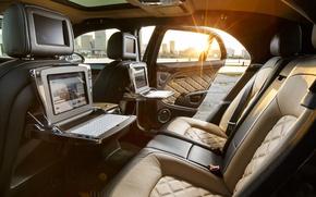 Picture Bentley, Speed, Side, Back, Interior, (2014), Mulsanne