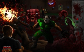 Picture background, Wallpaper, the game, legend, Marines, doom, brutal, mod, DOOM