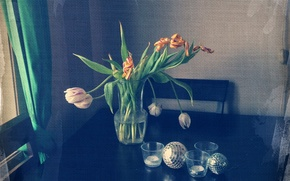 Picture flowers, style, still life