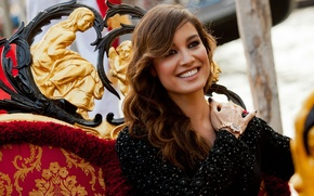 Picture smile, mood, model, actress, Italy, beauty, Venice, celebrity, beautiful, Berenice Marlohe, Bérénice Marlo, French, celebrity.