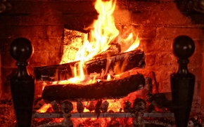 Picture fire, flame, wood, fire, flame, fireplace, fireplace, flames, firewood