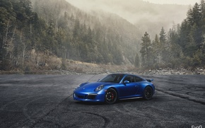 Picture car, 911, porsche, blue, gts, evoG photography