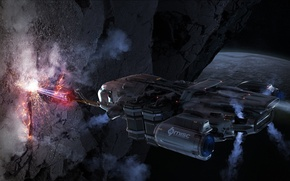 Picture surface, laser, starship, Star Citizen, Misc Prospector