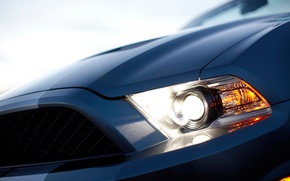 Wallpaper gt500, shelby, mustang, headlight