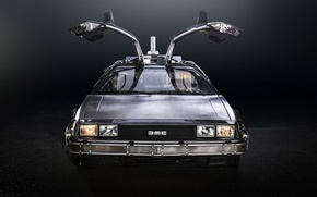 Picture background, door, Back to the future, The DeLorean, DeLorean, DMC-12, the front, Back to the ...