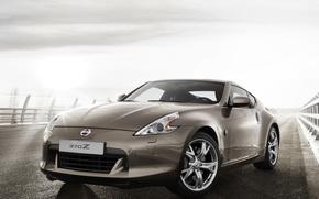 Picture Road, Machine, Nissan, Nissan, Car, Car, Brown, 370z, Road, Brown