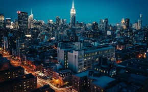 Picture night, city, the city, lights, skyscrapers, new york, new York