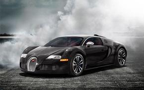 Picture smoke, veyron, supercar, bugatti, Bugatti, autowalls