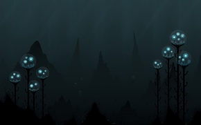 Picture light, darkness, Depth, jellyfish
