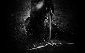 Picture rain, Batman, bat, heel, 2012, Batman, icon, The Dark Knight Rises, boots, The dark knight: ...