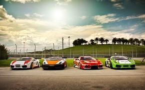 Picture Ferrari, cars, auto, lamborghini gallardo, wallpapers auto, Wallpaper HD, F430, race car, Ferrari f430