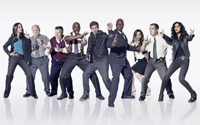 Picture Fox, USA, police, New York, detective, Terry Crews, TV series, comedy, Scully, Hitchcock, Andy Samberg, ...