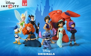 Picture Disney, Aladdin, Brave, Donald Duck, videogame, Maleficent, Big Hero 6, Disney Infinity 2.0