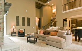 Picture house, style, furniture, interior, furnished, carpets
