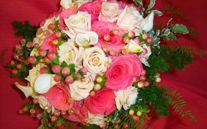 Picture flowers, photo, roses, bouquet, Calla lilies