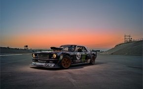 Picture Mustang, Ford, Sky, Monster, 1965, Sunset, RTR, Block, Ken, Gymkhana, Energy, Rear, Hoonicorn, SEVEN, 845 …