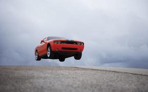 Wallpaper red, flight, road, dodge, auto, machine, auto, road
