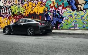 Picture R35, Nissan GTR, Blak, GT-ar