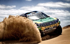 Picture Sand, Auto, Sport, Machine, Race, Renault, Dakar, SUV, Rally, The front, 2014