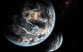 Picture light, Planet, life, Sci fi