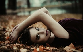 Picture autumn, look, Park, model, Germany, Miss Kowalski