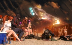 Picture beach, game, girls, the crash, star wars, heroes, resident evil, dead or alive, mass effect, …