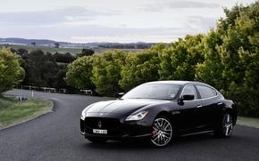 Wallpaper GTS, Quattroporte, Maserati, quatroporte, Maserati