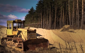 Picture sand, landscape, technique, tractor, excavator