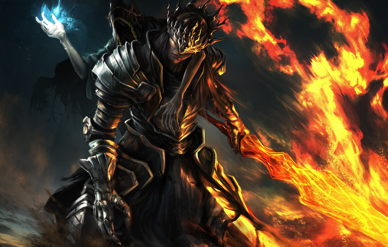 Wallpaper Weapons Fire The Game Sword Armor Art Armor Dark