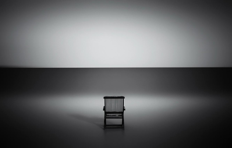 Photo wallpaper light, shadow, chair