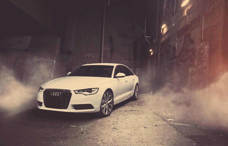 Photo wallpaper car, machine, Audi, the building