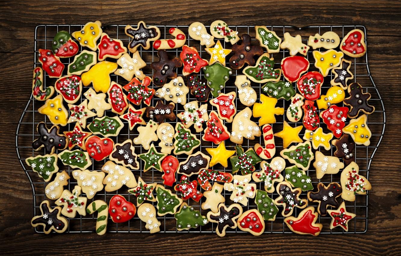 Photo wallpaper New Year, cookies, Christmas, Christmas, cookies, New Year, Xmas, cookies, Merry, 2016