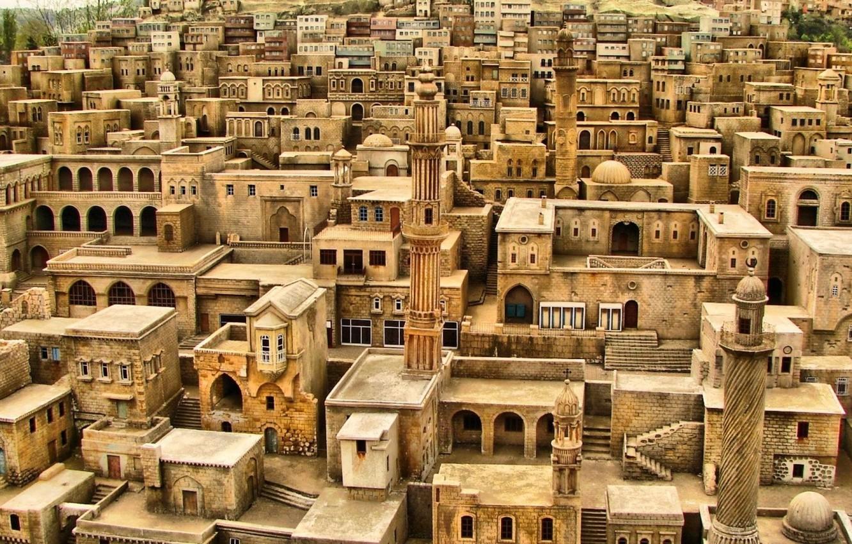 Photo wallpaper building, roof, the minaret, Yemen, Arabia