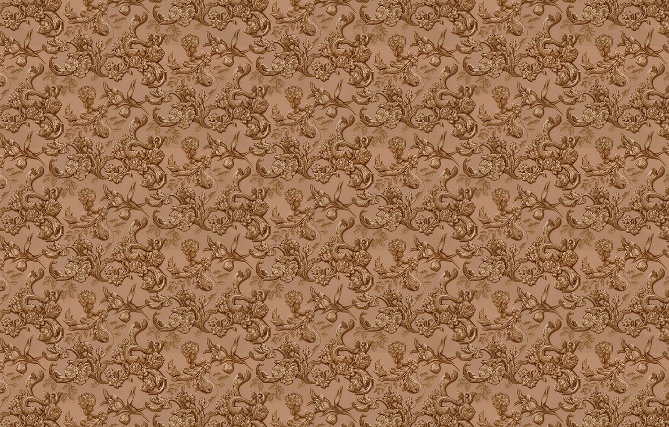 Photo wallpaper leaves, flowers, background, wall, Wallpaper, figure, texture, floral ornament