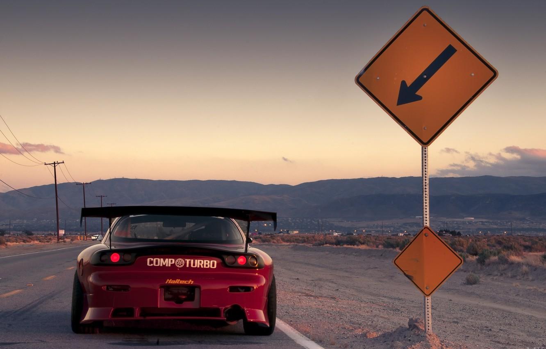 Photo wallpaper desert, Mazda, Mazda, desert, RX-7, richeza