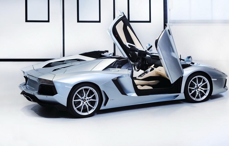 Photo wallpaper supercar, Lamborghini, aventador, Lamborghini Aventador LP-700-4 Roadster