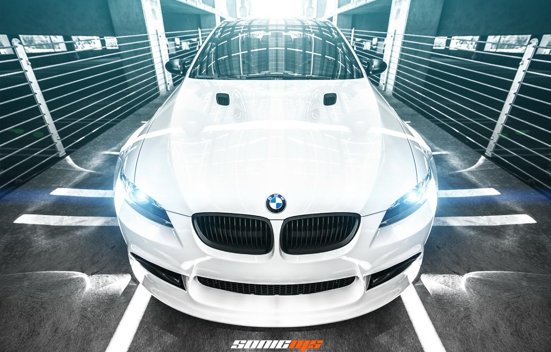 Photo wallpaper car, BMW, white, bmw m3