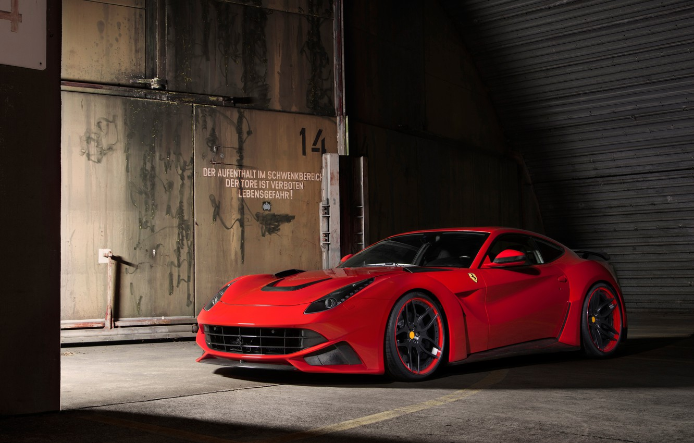 Photo wallpaper Ferrari, Berlinetta, F12, Novitec Rosso, N-Largo
