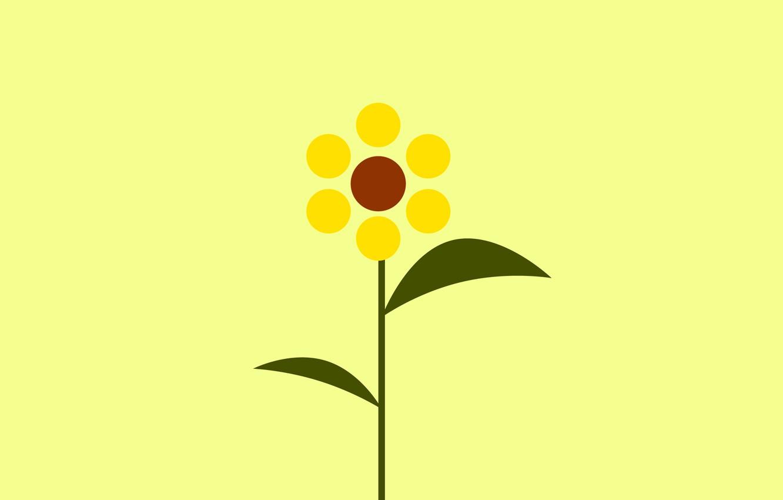 Photo wallpaper flower, abstraction, paint, sunflower, petals