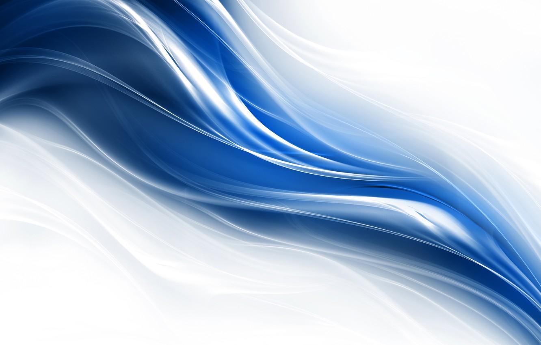 Photo wallpaper line, blue, curves