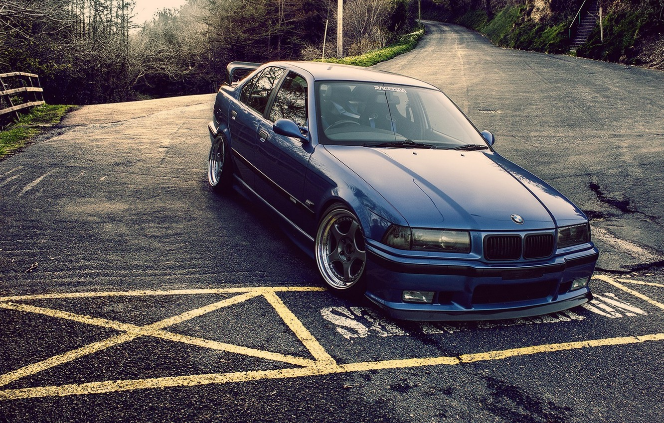 Photo wallpaper tuning, BMW, e36, broder