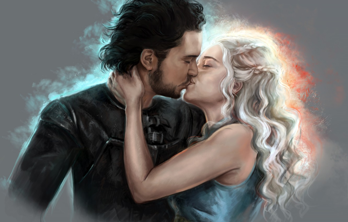 Wallpaper Girl Kiss Two The Film Game Of Thrones Daenerys