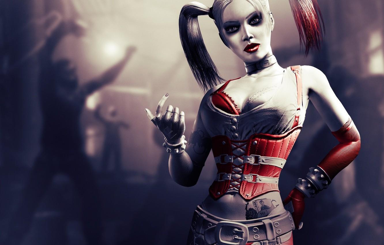 Photo wallpaper batman, character, arkham city, harley quinn, Harley Quinn