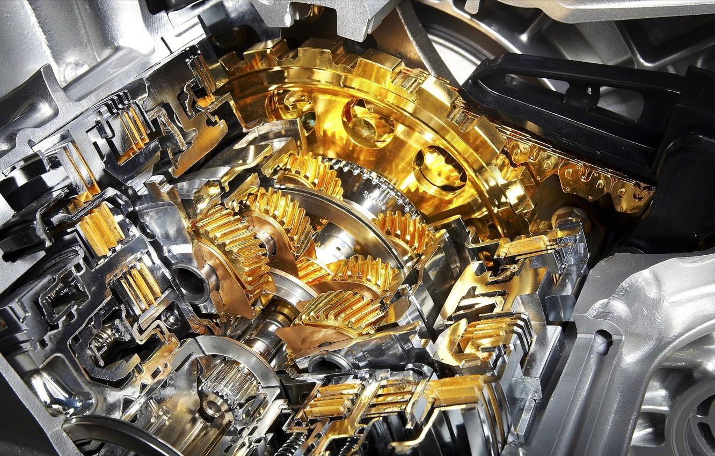 Photo wallpaper metal, engine, gear