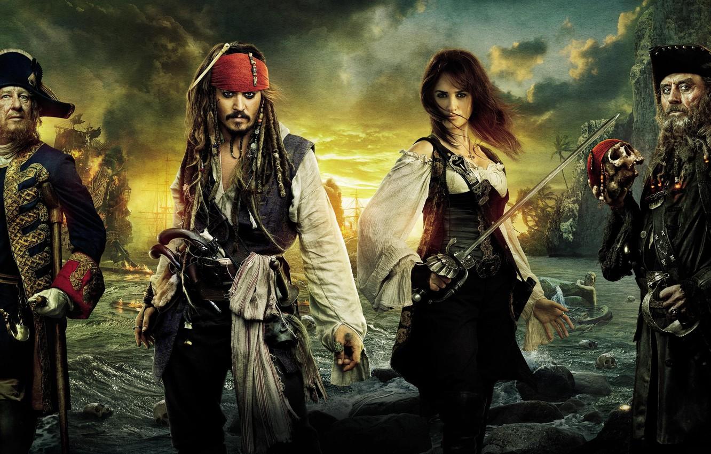 Photo wallpaper Pirates, sea, the banks, strange, Caribbean
