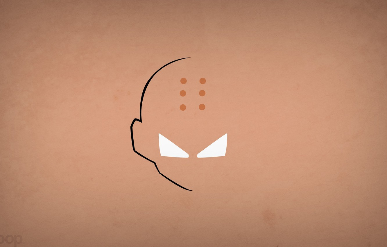 Wallpaper Minimalism Blo0p Dragon Ball Z Krillin Images For Desktop Section Minimalizm Download