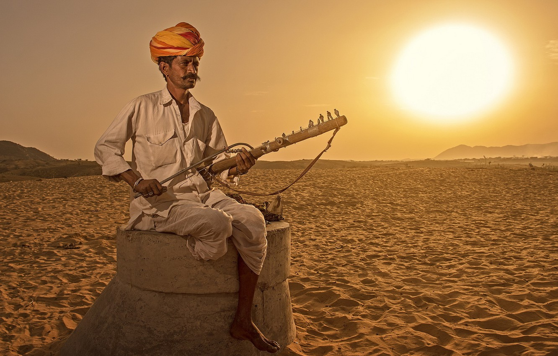 Photo wallpaper music, people, India, tool