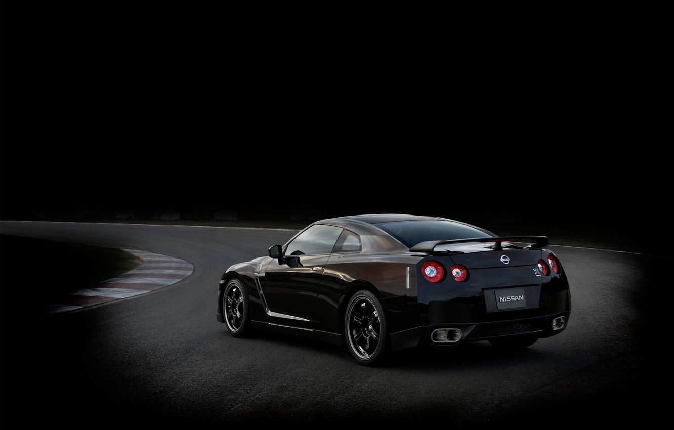 Photo wallpaper black, Nissan, SpecV, GT-R